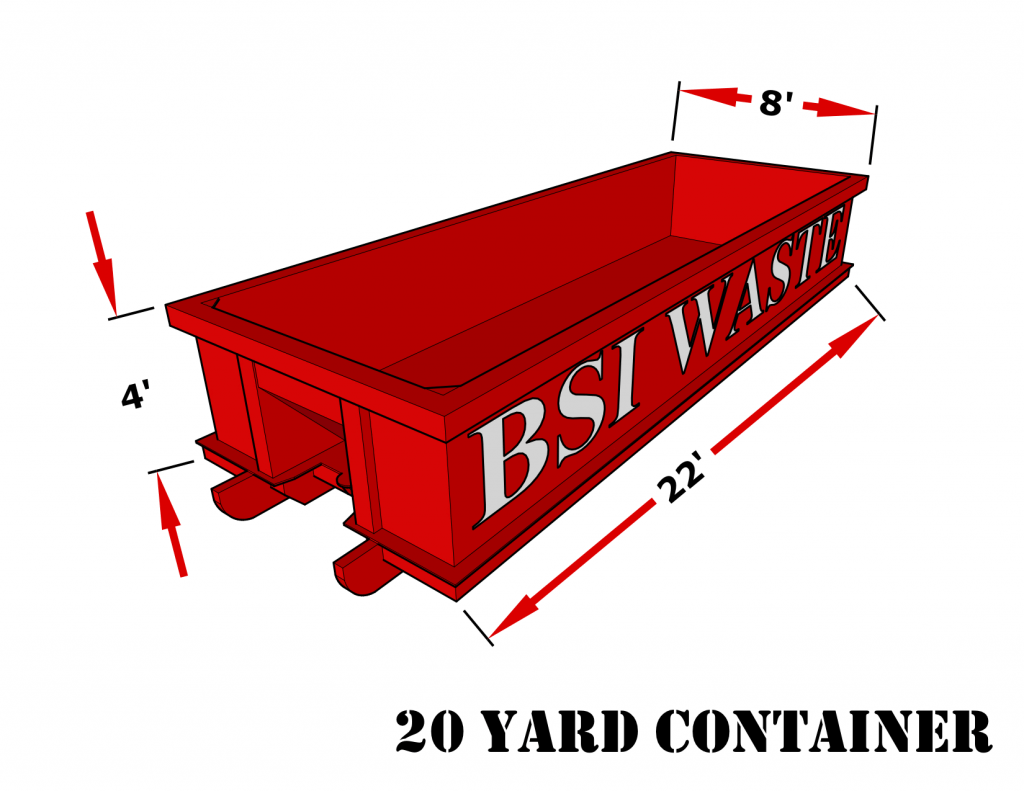 BSI Waste 20 Yard Roll Off Container