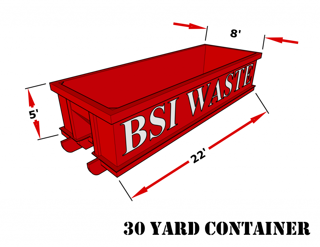 BSI Waste 30 Yard Roll Off Container